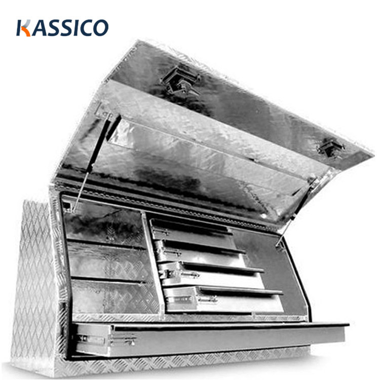 Aluminium Ute Toolbox Side Opening with 5 Drawers